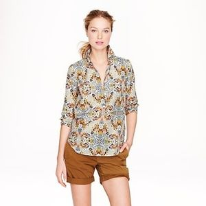 { J Crew } Popover Perfect Shirt in Misty Fog